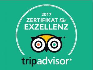 tripadvisor Zertifikat für Exzellenz 2017